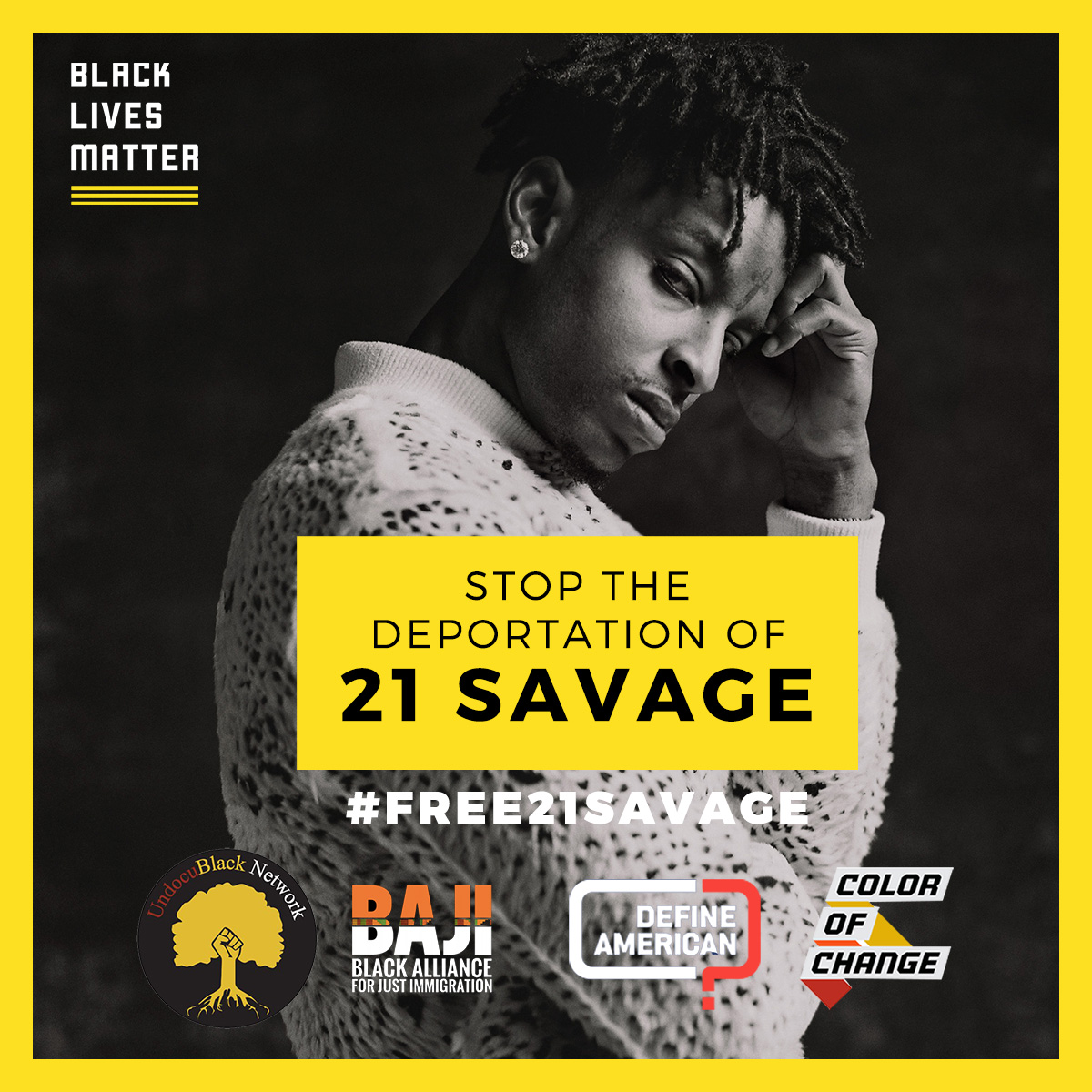 Petition Delivery: Bring 21 Savage Home!
