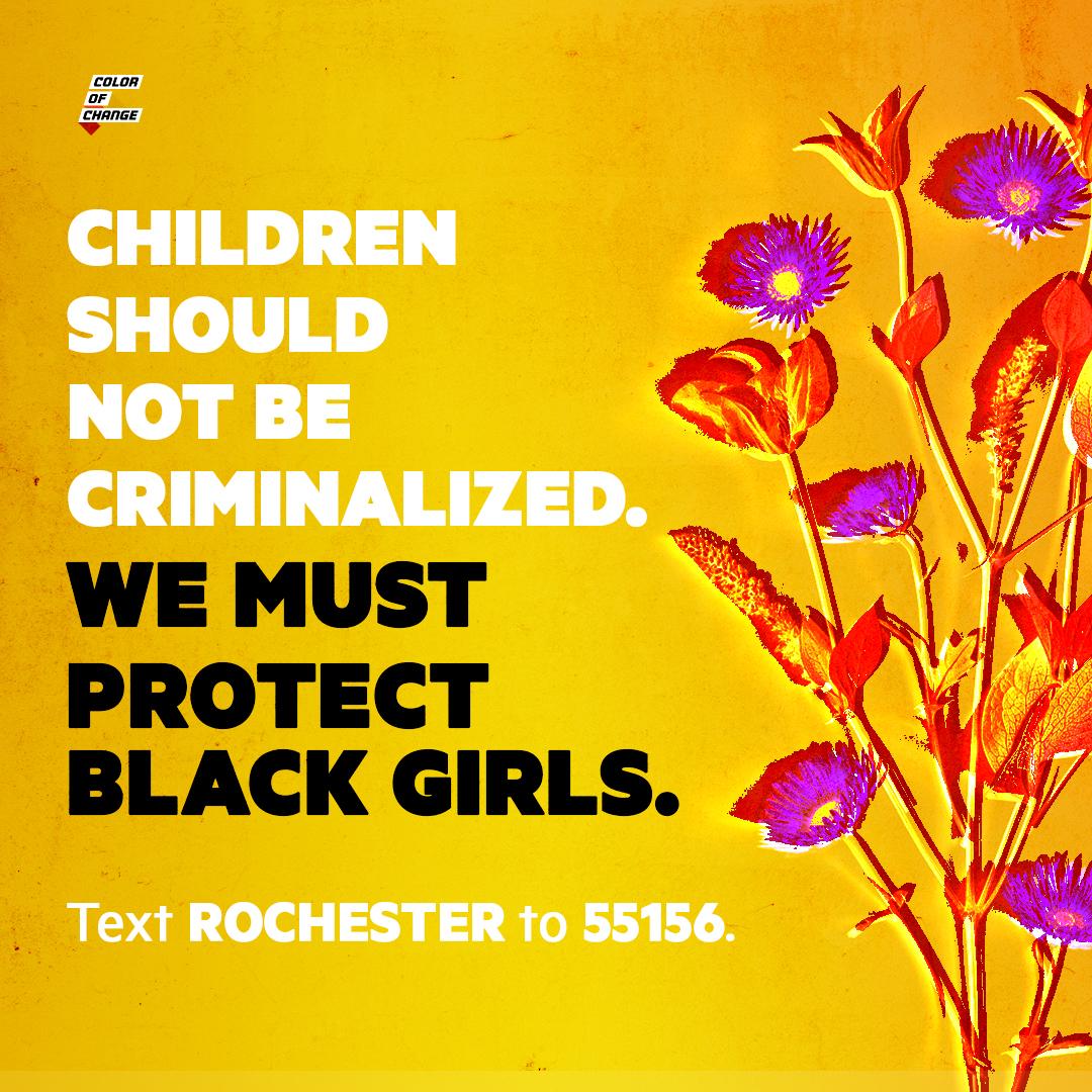 Children should not be criminalized. Protect Black girls.