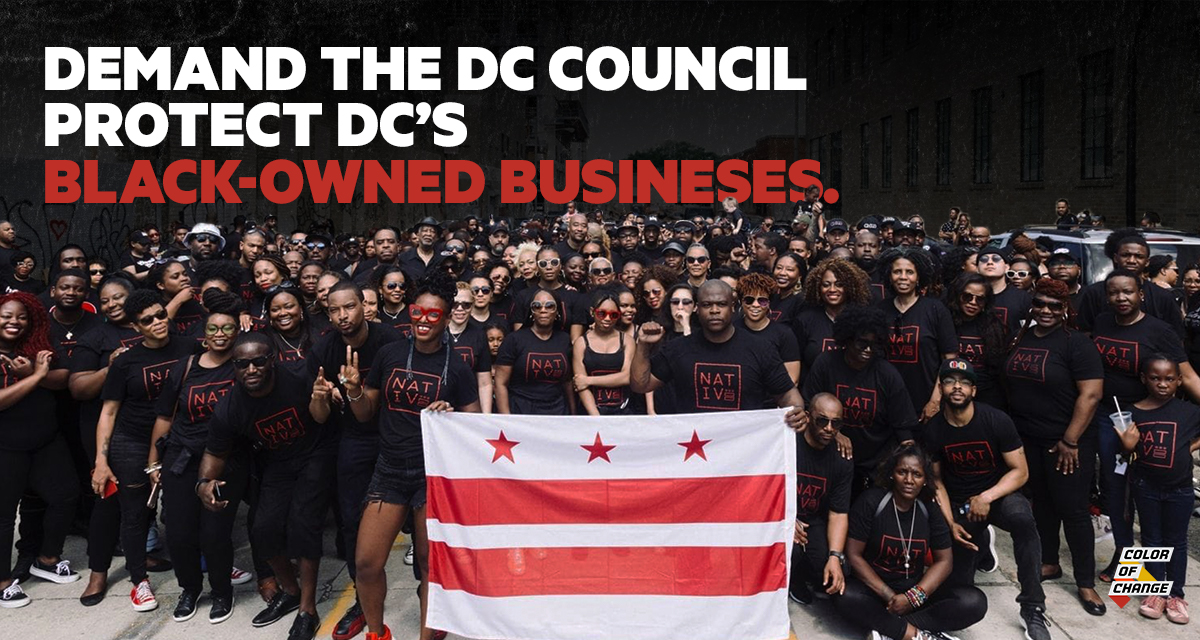 Sign the petition to tell the DC Council pass B23-0075 and advance further legislation for tax abatement and rental relief to other DC native Black-owned businesses.
