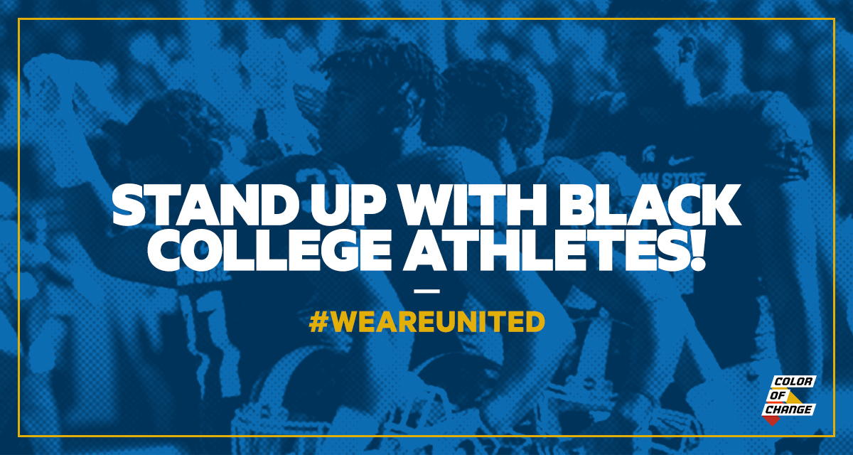 Hundreds of college athletes from schools in the PAC-12 athletic conference have been organizing and building a player-led movement, #WeAreUnited. Last Sunday, they took a bold stance and threatened to sit out this season if their demands for safe and fair play are not met. We are standing united with these leaders.
