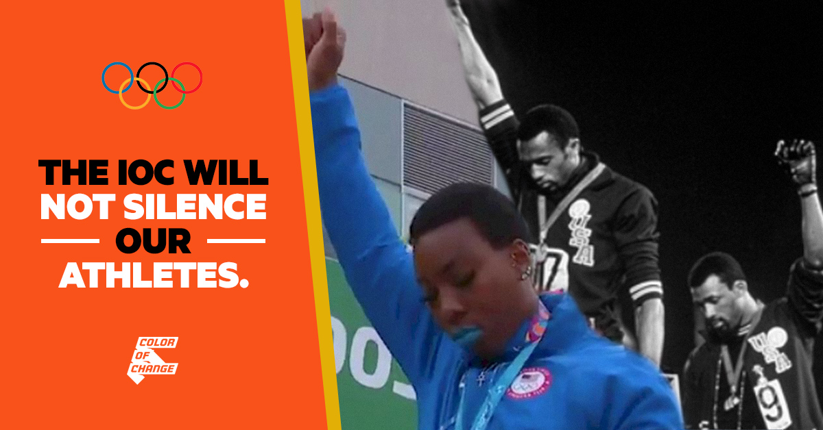 We cannot allow the International Olympic Committee to silence the world's top athletes