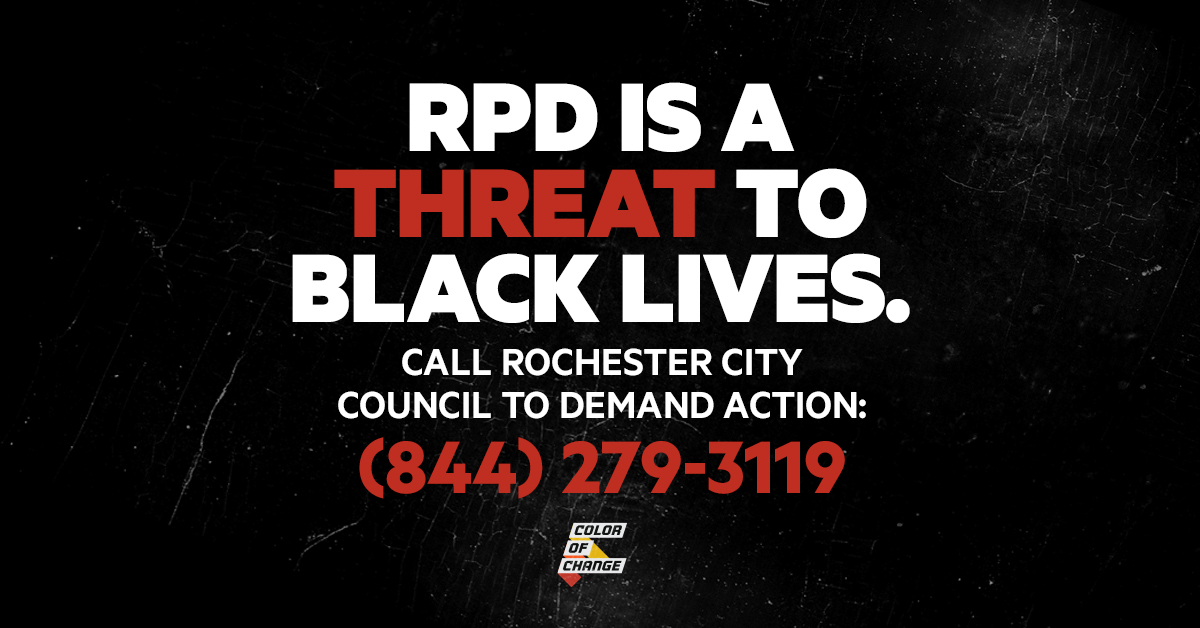 RPD is a threat to Black lives. Call (844) 279-3119