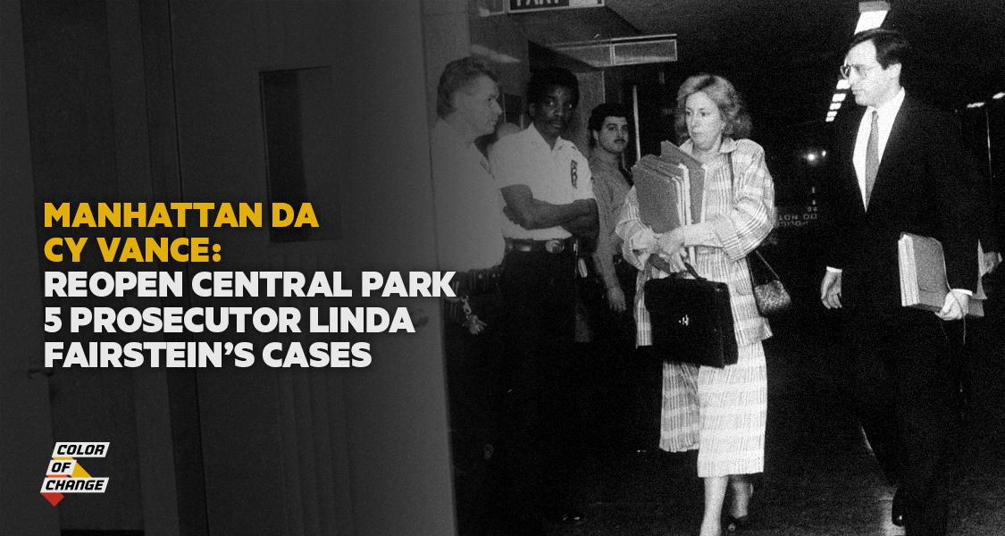 Demand Manhattan DA Cy Vance Reopen Linda Fairstein's cases