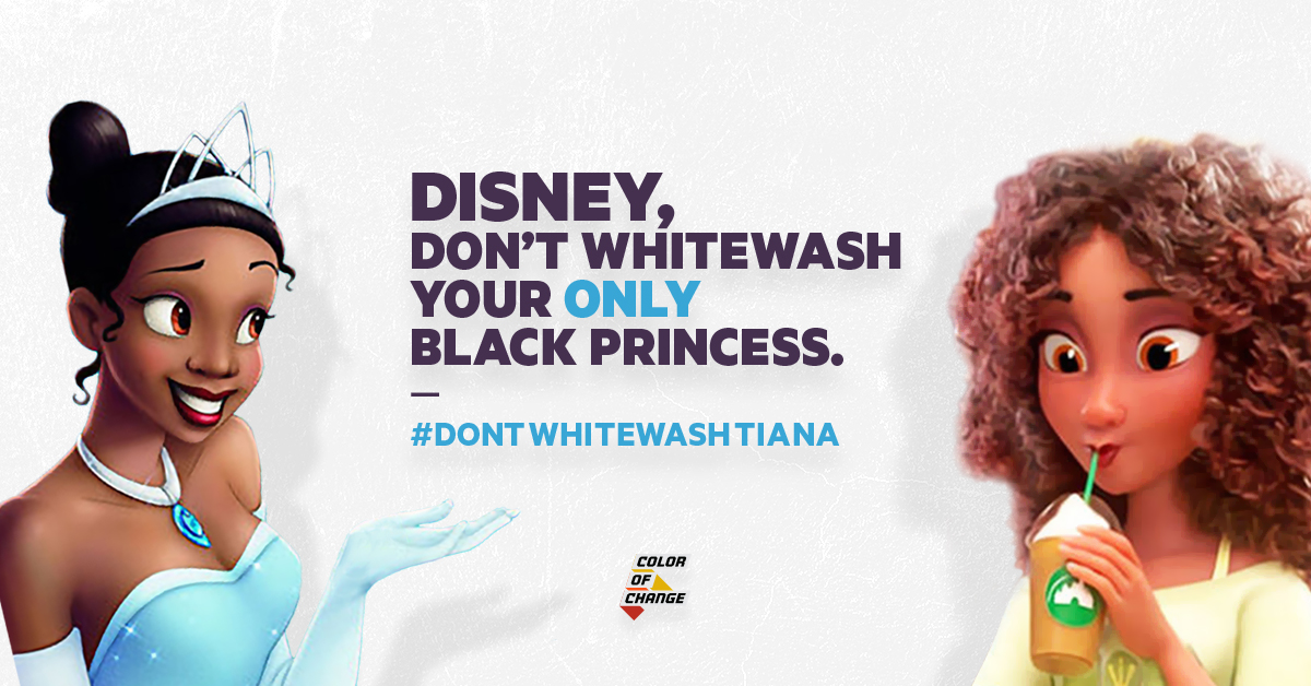 Tell Disney Stop Whitewashing Their Black Characters