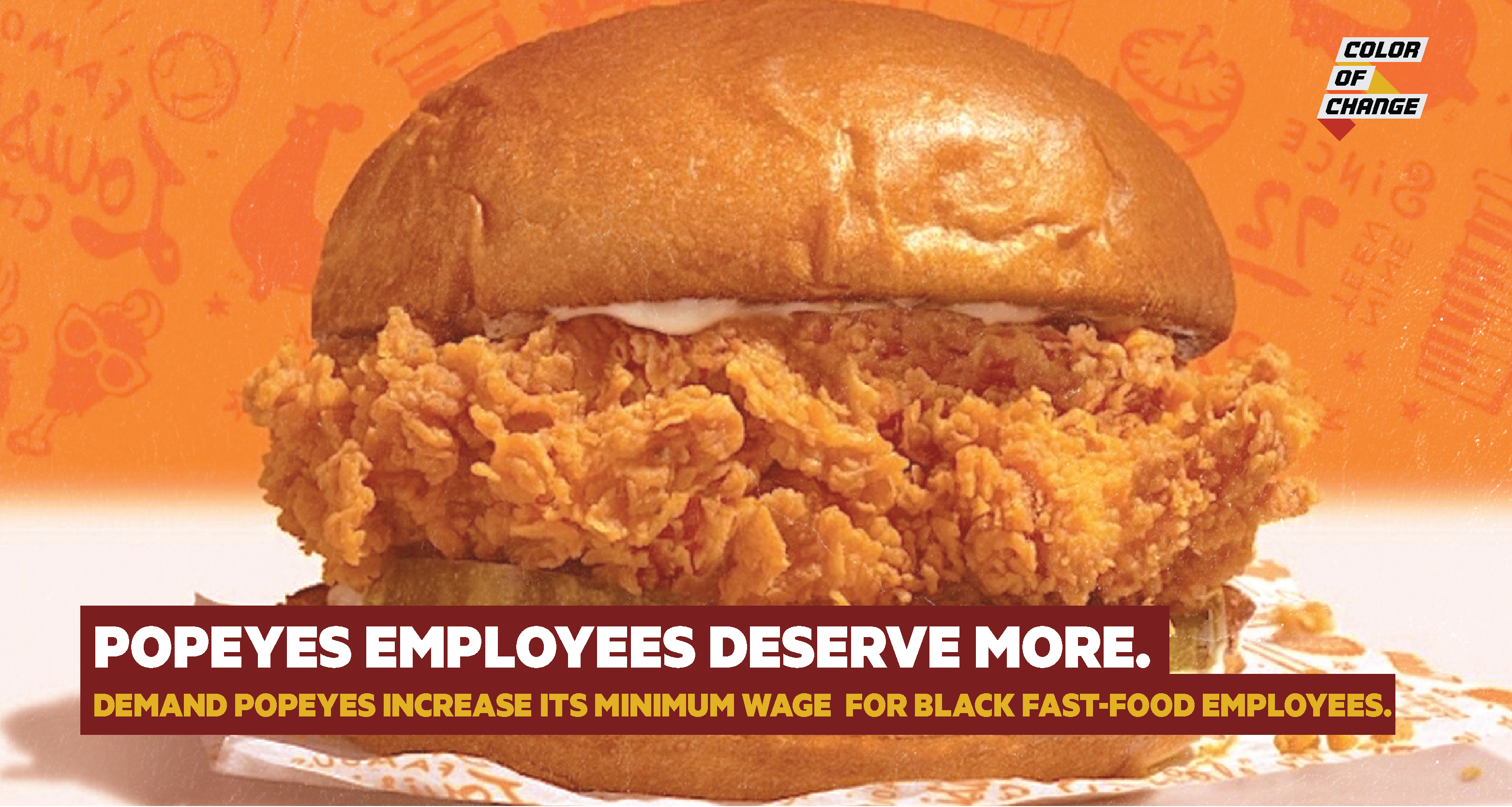 Black people disproportionately work fast food jobs. Popeyes needs to pay its employees more.