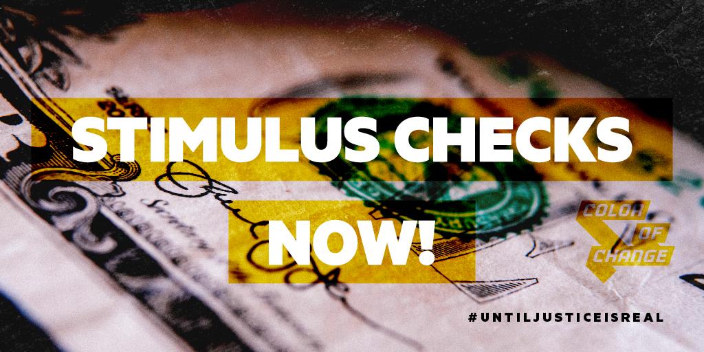 We need #StimulusChecksNOW!
