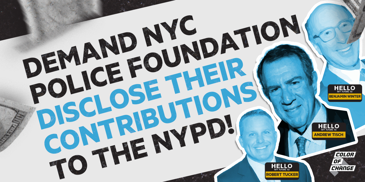 Demand NYC Police Foundation disclose their contributions to the NYPD!