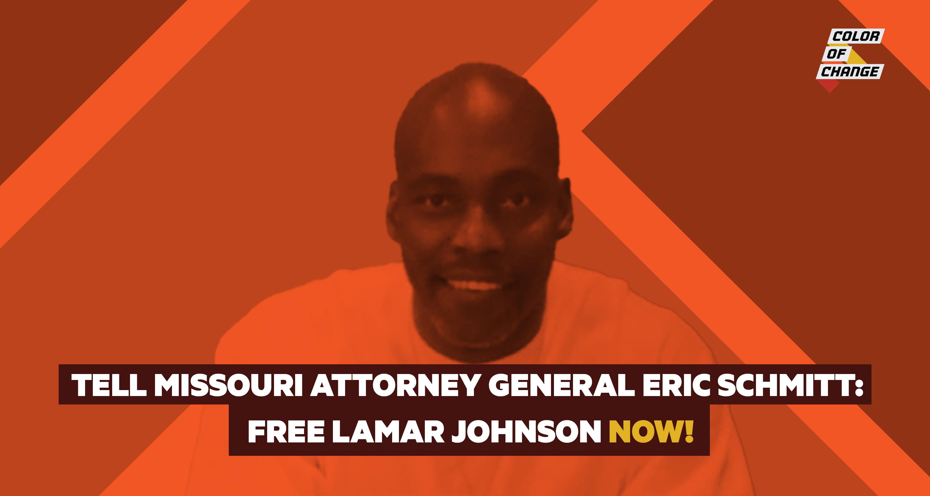 Tell Missouri Attorney General Eric Schmitt: Free Lamar Johnson NOW!