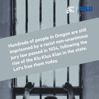 Action needed: People are still imprisoned in Oregon by a KKK-era law